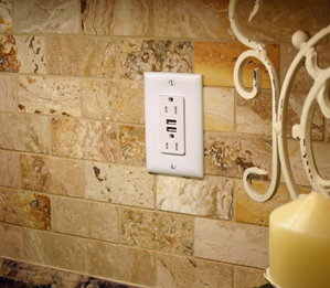 Combination USB Chargers offer homeowners the ability to charge virtually any electronic device directly from a standard outlet.