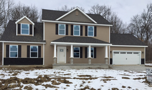 A Unibilt Custom Homes Two Story ready to show in less than 45 days from time of set.